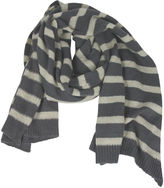 One Kings Lane Striped Scarf, Gray/Wheat