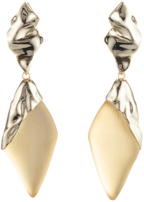 Alexis Bittar Crumpled Gold Dangling Post Earring
