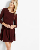 Express hint of cashmere fit and flare sweater dress