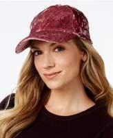 INC International Concepts I.N.C. Crushed Velvet Baseball Cap, Created for Macy's