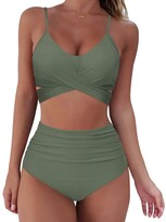 Thumbnail for your product : SUUKSESS Women Wrap Bikini Set Push Up High Waisted 2 Piece Swimsuits - - Small