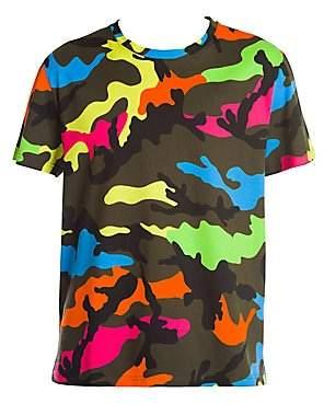 Valentino Men's Multicolor Camo Tee