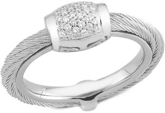 Alor Classique 18K & Stainless Steel 0.14 Ct. Tw. Diamond Ring