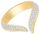 Swarovski Groove 23K Goldplated and Crystal Ring