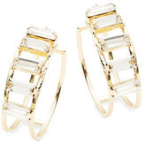 RJ Graziano Baguette Accented Clickback Hoops- 1 in.