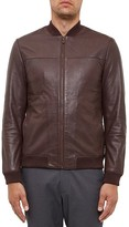Ted Baker Action Leather Bomber Jacket