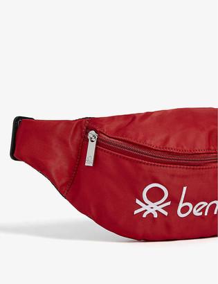Benetton Unisex logo nylon bumbag