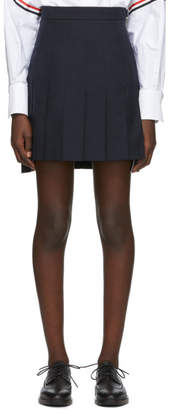 Thom Browne Navy Super High Waist Miniskirt