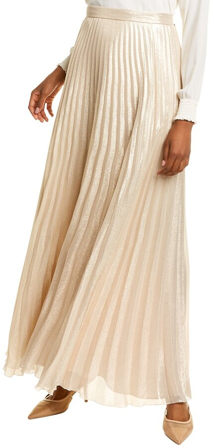 Thumbnail for your product : Max Mara Pacato Silk-Blend Maxi Skirt