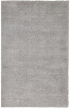 Bridgeport Home Salon Solid Shag Sss1 Light Gray 5' x 8' Area Rug