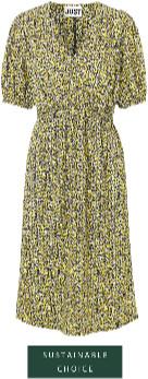 Just Female Dove Dress - XS (34-36) | cotton | black | White / Yellow - Black/Black