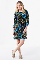 Classic Women's Swim Cover-up Tunic Dress-Deep Sea Floral