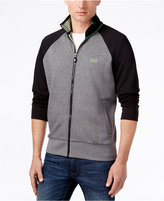 HUGO BOSS Green Men's Skoz Colorblocked Stand-Collar Jacket