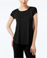 Alfani Petite Satin-Trim High-Low T-Shirt, Only at Macy's