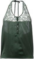 Faith Connexion satin lace top - women - Silk/Cotton/Polyamide - S