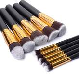 Taotaole 10 PCS Makeup Brush Set Cosmetic Foundation Blending Pencil Brushes Kabuki by Taotaole
