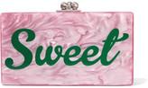Edie Parker Jean Acrylic Box Clutch - Pink
