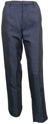 Essentiel Antwerp Blue Synthetic Trousers