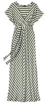 Merona Women's Kimono Sleeve Maxi Dress - Green Tea Stripe