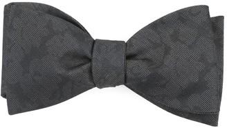 Tie Bar Refinado Floral Charcoal Bow Tie