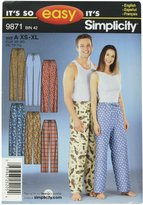 Simplicity Sewing Pattern 9871 It's So Easy Miss/Men Sleepwear, A (X-Small - Small - Medium - Large - X-Large)