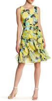 Robbie Bee Floral Ruffle Skirt Midi Dress