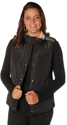 Tribal Women's Mixed Media Puffer Vest