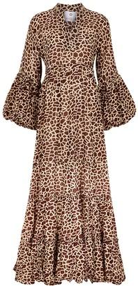 Sunbunch Colle Mao giraffe-print cotton maxi dress