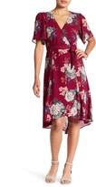 Bobeau Floral Wrap Dress (Petite)