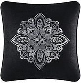 J Queen New York Guiliana Damask-Embroidered Velvet Square Pillow