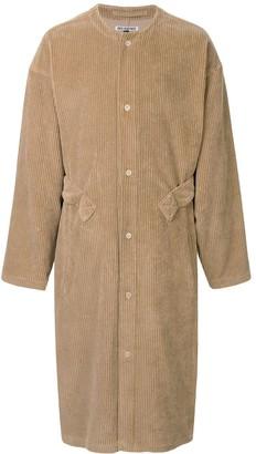 Hed Mayner Corduroy Single-Breasted Coat