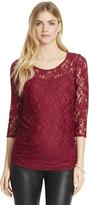 Motherhood Jessica Simpson Lace Maternity Shirt
