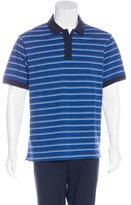 Prada Striped Piqué Polo Shirt w/ Tags