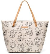 Petunia Pickle Bottom Infant Downtown Disney Mickey Mouse Print Diaper Tote - White