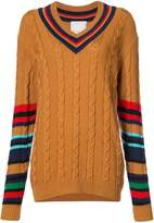 Paul Memoir cable-knit V-neck jumper