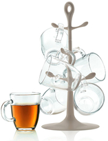 Bodum Copenhagen Mug Tree with Glass Mugs
