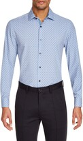 Work Rest Karma Trim Fit Performance Stretch Floral Dress Shirt