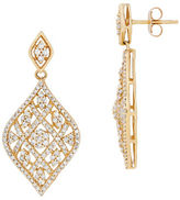 Lord & Taylor Diamonds and 14K Yellow Gold Drop Earrings