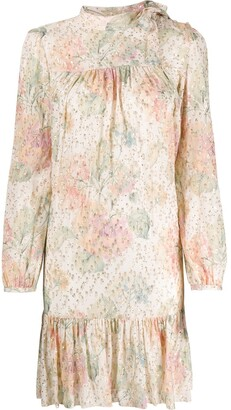 RED Valentino Evanescent Flowers long-sleeved dress