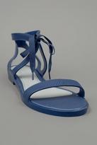 Optical Sandal Flat Blue