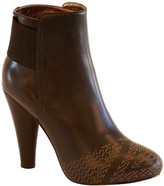 Cynthia Vincent Talan Etched Leather Bootie