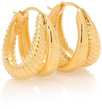 Sophie Buhai Double Rope 18kt gold-plated hoop earrings