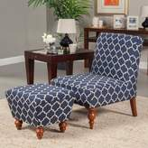 HomePop Lattice Accent Chair & Ottoman 2-piece Set
