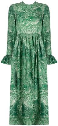 Roseanna Abstract-Print Midi Dress