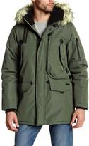 Ben Sherman Faux Fur Trim Hooded Parka Jacket