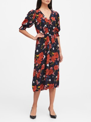 Banana Republic V-Neck Midi Dress