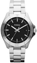 Fossil Men's Retro Traveler AM4441 Silver Stainless-Steel Analog Quartz Watch with Dial
