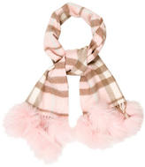 Burberry Fox-Accented Cashmere Scarf