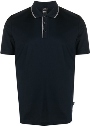 HUGO BOSS Stripe-Trimmed Polo Shirt