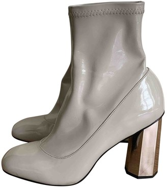 Senso \N Grey Patent leather Ankle boots